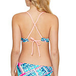 Arizona Patchwork Bra Swimsuit Top Juniors