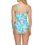 Arizona Floral One Piece Swimsuit Juniors