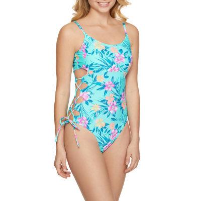 Arizona Floral One Piece Swimsuit Juniors