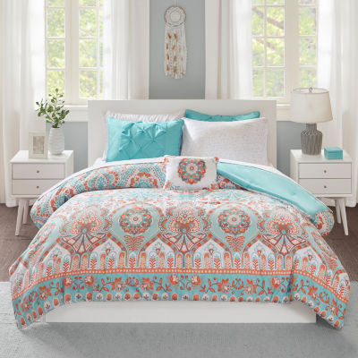 Intelligent Design Avery Floral complete Bedding Set with Sheets