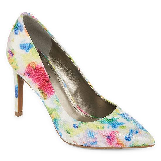 Worthington Womens Zoe Pumps Closed Toe Stiletto Heel