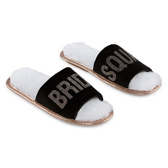 Ambrielle Bridal Womens Slip-On Slippers