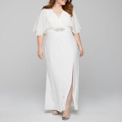 Blu Sage Sleeveless Applique Evening Gown - Plus