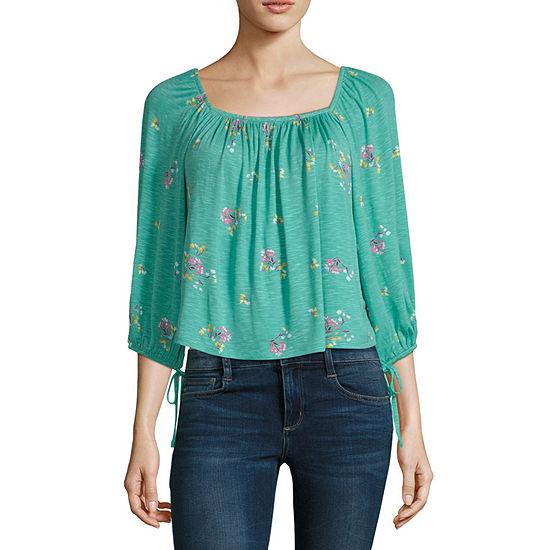 Ana Womens Square Neck 3 4 Sleeve T Shirt