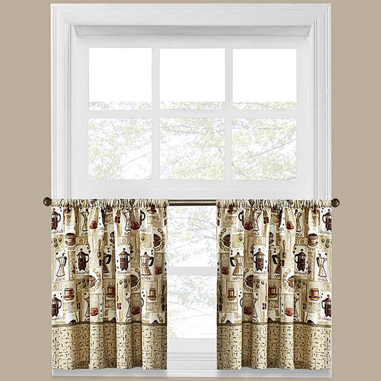 Coffee Shoppe Rod-Pocket Window Tiers
