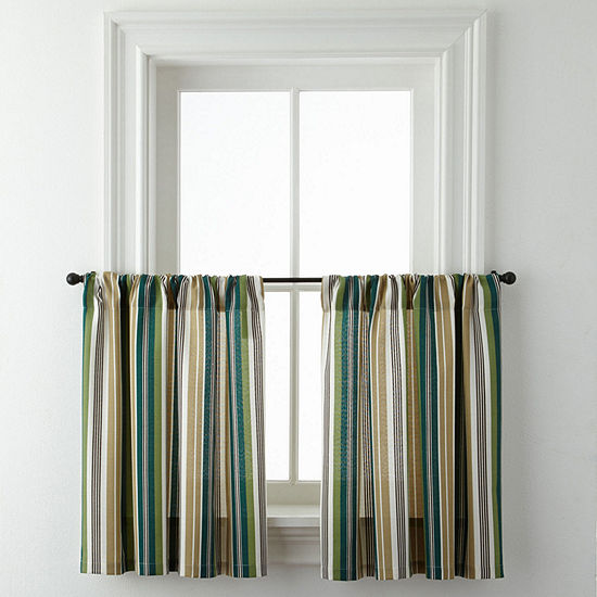 Forest Stripe Rod-Pocket Window Tiers