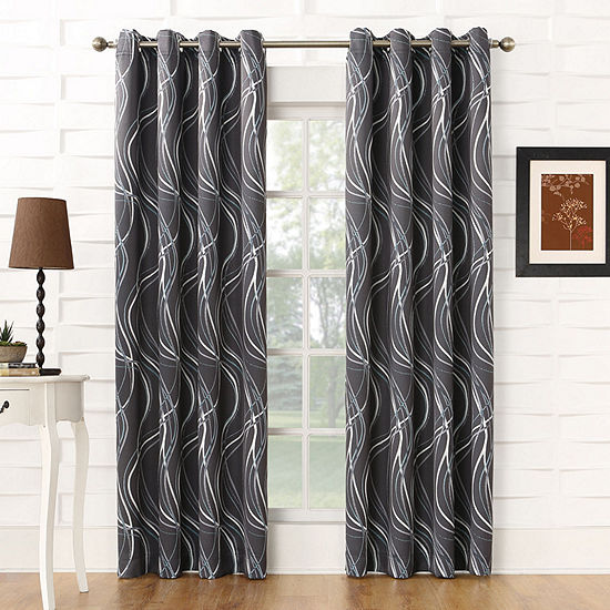 Sun Zero Largo Energy Saving Blackout Grommet-Top Curtain Panel