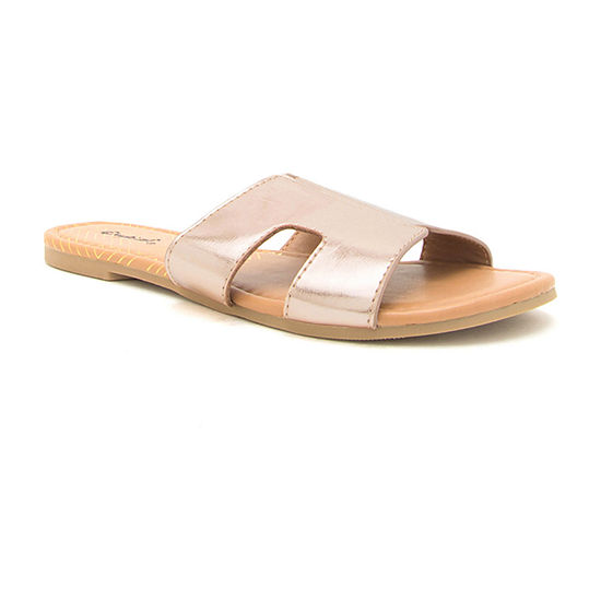 Qupid Womens Archer-569x Slide Sandals