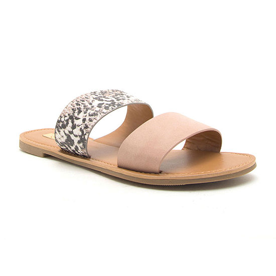 Qupid Womens Athena-1076axx Slide Sandals