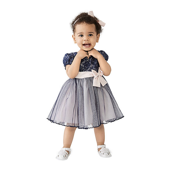 Bonnie Jean 2-pc. Girls Short Sleeve A-Line Dress - Baby