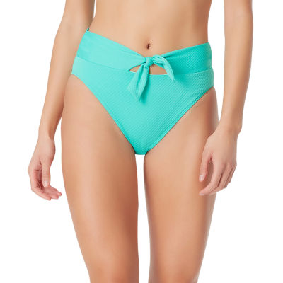 Sugar Beach Textured High Waist Swimsuit Bottom