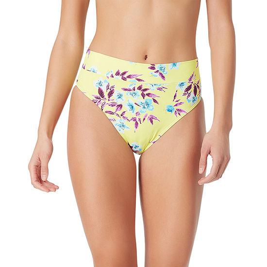 Sugar Beach Floral High Waist Bikini Swimsuit Bottom