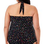 Trimshaper Slimming Control Dots Tankini Swimsuit Top Plus