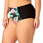 Allure By Img High Waist Bikini Swimsuit Bottom Juniors Plus