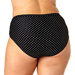 Allure By Img Dots High Waist Swimsuit Bottom Juniors Plus