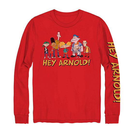 Nickelodeon Mens Crew Neck Long Sleeve Graphic T-Shirt