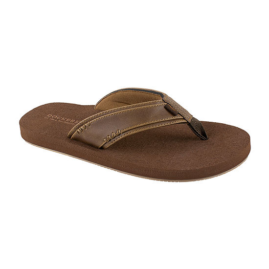 Dockers® Faux Leather Strap Flip Flops