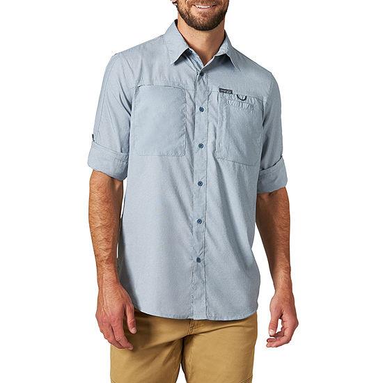 Wrangler All Terrain Gear Mens Long Sleeve Button-Front Shirt