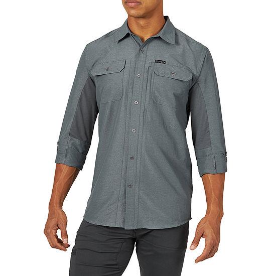 Wrangler All Terrain Gear Mens Long Sleeve Button-Down Shirt