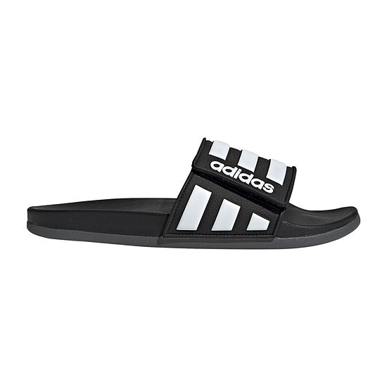 adidas Mens Adlitte Cloudfoam Adjustible Slide Slide Sandals