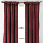 Liz Claiborne Holland Velvet Energy Saving 100% Blackout Back-Tab Single Curtain Panel