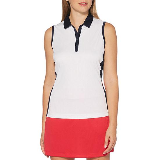 PGA TOUR Womens Collar Neck Sleeveless Tank Top