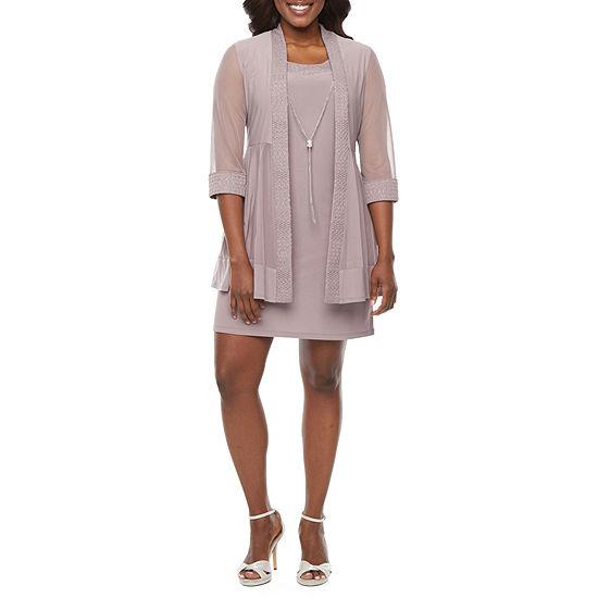 R & M Richards 3/4 Sleeve Jacket Dress - Petite