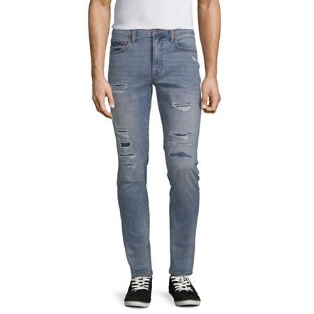 Arizona Advance Flex 360 Mens Skinny Fit Jean, 34 30, Blue