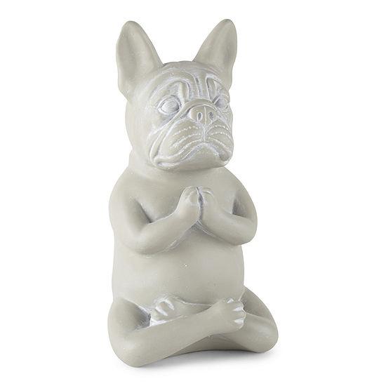 Paw And Tail Yoga Dog Figurine - Sitting