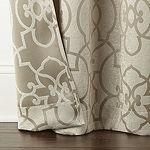 Regal Home Ironwork Windowpane Blackout Rod-Pocket Set of 2 Curtain Panel