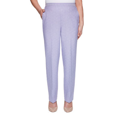Alfred Dunner Nantucket Womens Straight Pull-On Pants