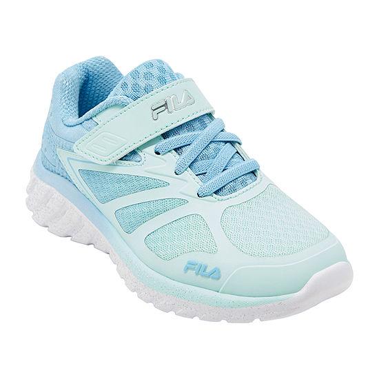Fila Speedstride 4 Strap Little Kids Girls Running Shoes