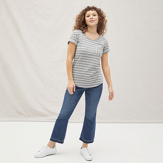 a.n.a Pocket Tee with High-Rise Cropped Jean