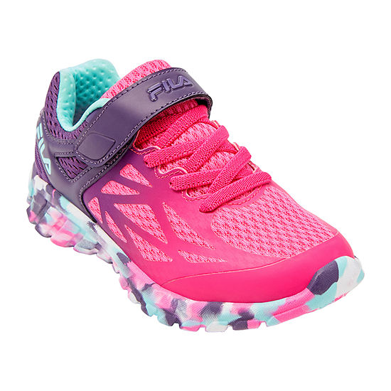 Fila Speedstride Strap Little Kids Girls Running Shoes