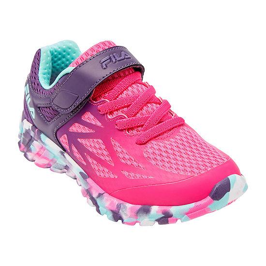Fila Speedstride Strap Little Kids Girls Running Shoes