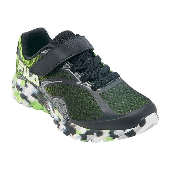 Fila Primeforce 4 Strap Little Kids Boys Running Shoes