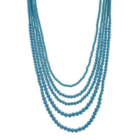 Bijoux Bar Beaded 24 Inch Beaded Necklace