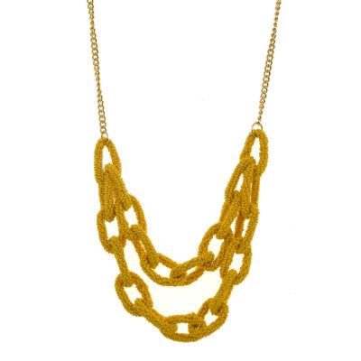 Bijoux Bar Seedbead 22 Inch Curb Statement Necklace
