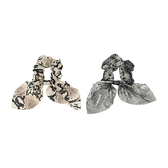 Mixit Snakeskin Print Scrunchie 2-pc. Hair Ties