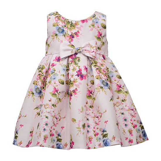 Bonnie Jean Floral Baby Girls Sleeveless Floral A-Line Dress