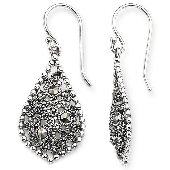 647609ee2 Sterling Silver Marcasite Teardrop Earrings - JCPenney