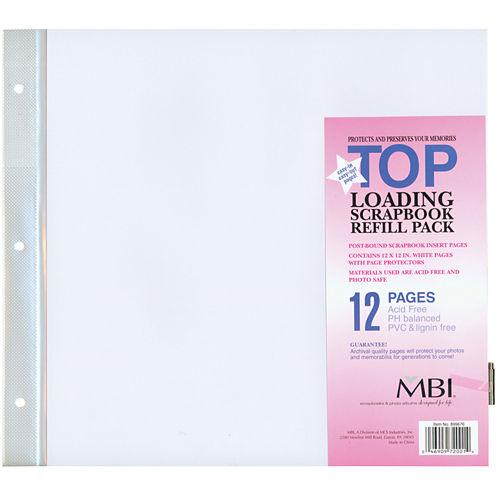 MBI Page Protectors 6/Pkg - Top Loading