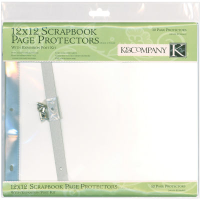 Postbound Page Protectors 10/Pkg - White Inserts