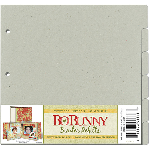 Bo Bunny 3-Ring Bare Naked Binder Refills