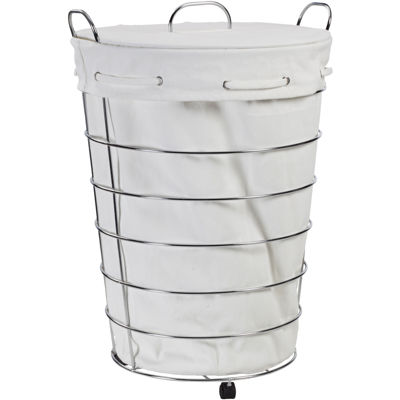 Creative Bath™ Aspen Rolling Hamper with Lid