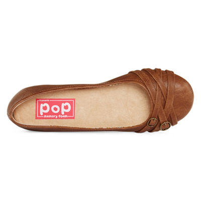 Pop Womens Nelly Ballet Flats Slip-on Closed Toe