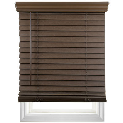 "Cut-to-Width 2"" Cordless Faux-Wood Blinds"
