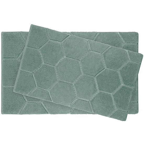 Laura Ashley™ 2-pc. Pearl Honeycomb Bath Rug Set