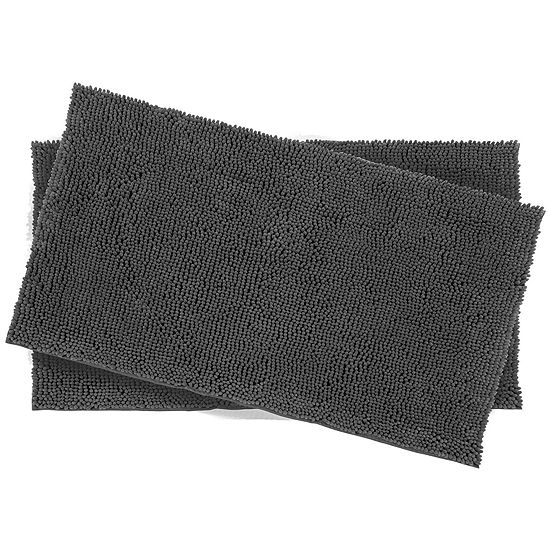 Resort Collection Chenille Plush Loop 2-pc. Bath Mat Set