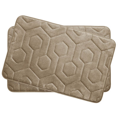 "Bounce Comfort Hexagon Memory Foam 17x24"" 2-pc. Bath Mat Set"